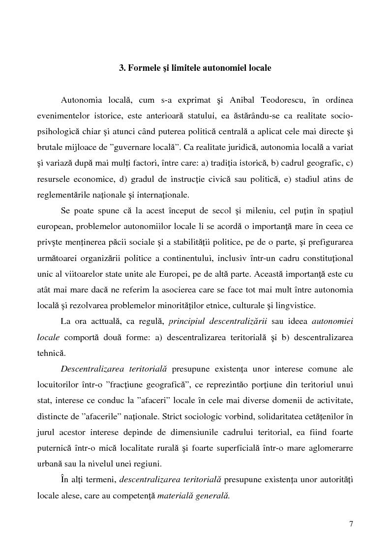 Anteprima della tesi: Conceptul autonomiei locale si controlul ierarhic, Pagina 7