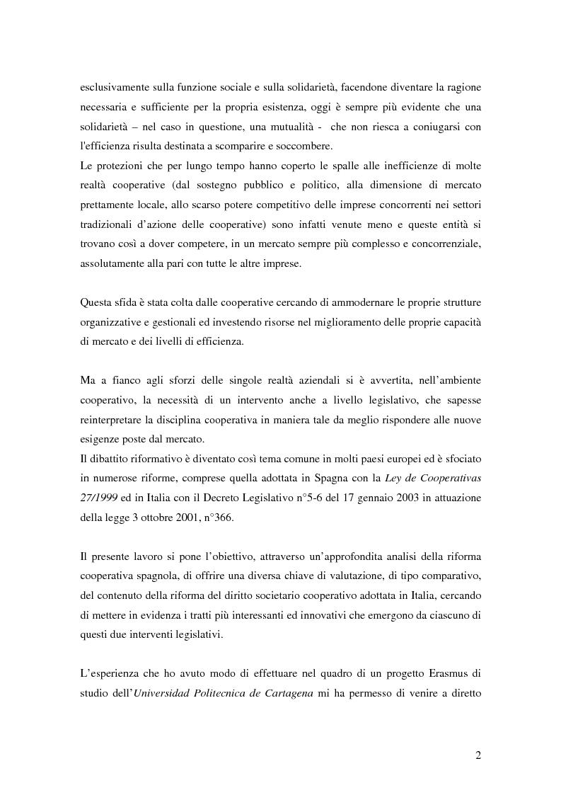 Anteprima della tesi: La formula cooperativa d'impresa in Spagna e in Italia: un'analisi comparata, Pagina 2