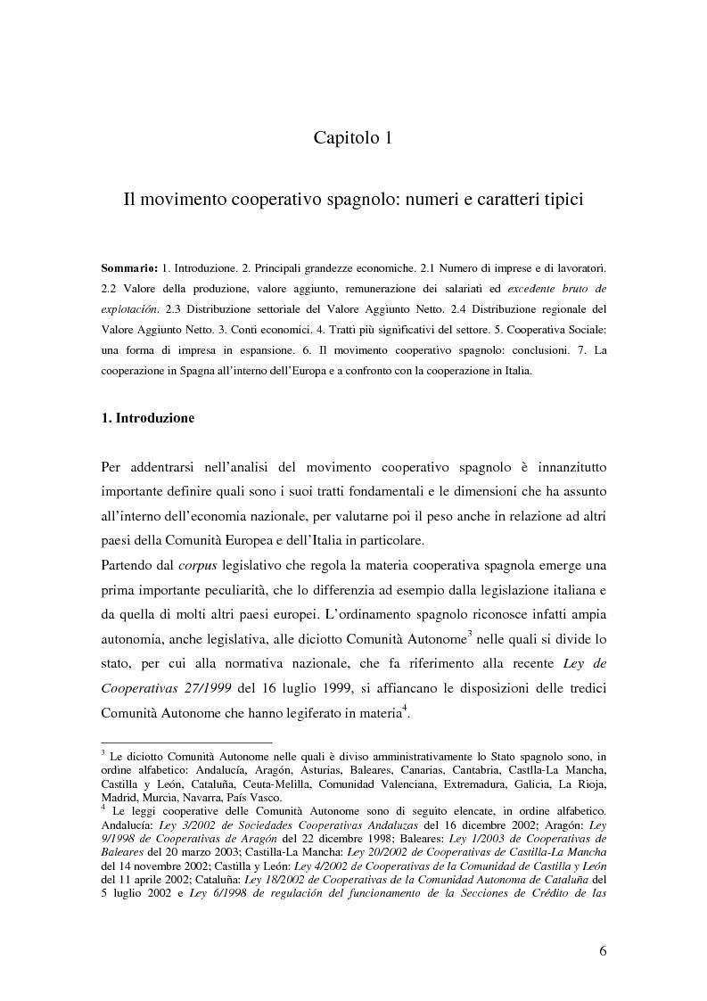 Anteprima della tesi: La formula cooperativa d'impresa in Spagna e in Italia: un'analisi comparata, Pagina 6