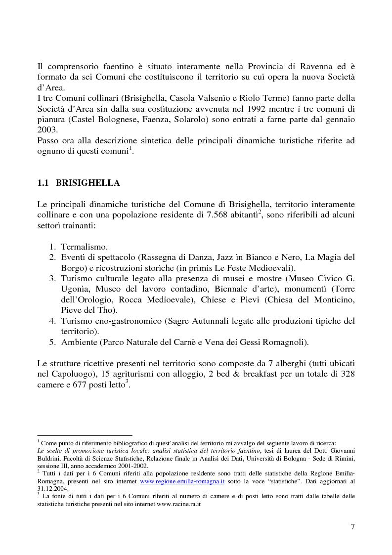 Anteprima della tesi: Analisi dei sistemi di certificazione di qualità in ambito turistico - La bandiera arancione per il territorio della Società di Area ''Terre di Faenza'', Pagina 5