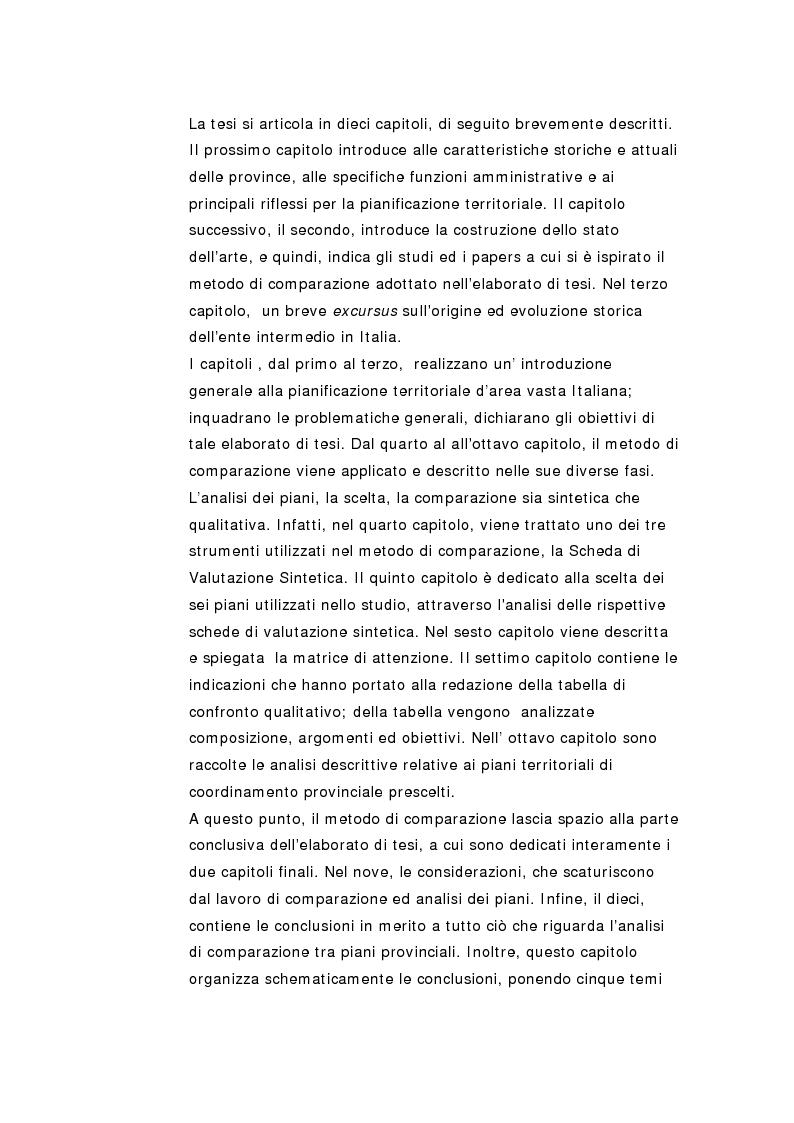 Anteprima della tesi: La pianificazione territoriale di coordinamento in Italia. Un'analisi comparativa sui piani provinciali., Pagina 3