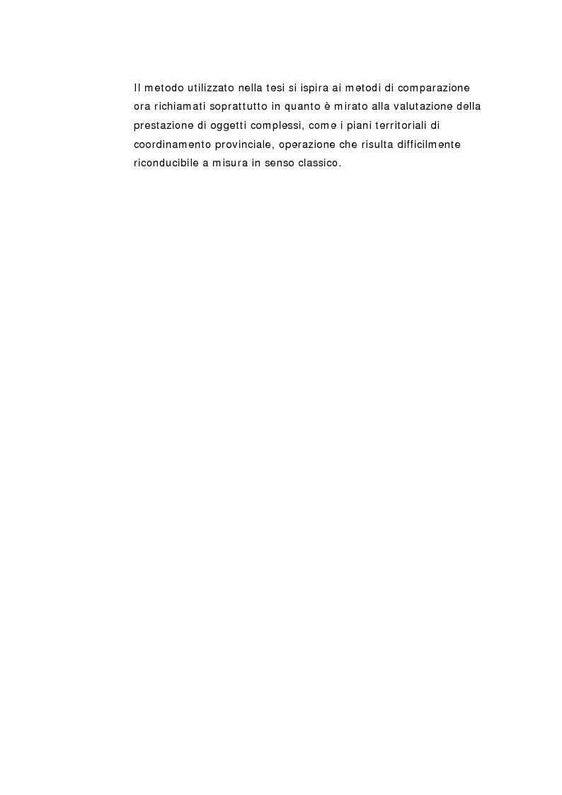 Anteprima della tesi: La pianificazione territoriale di coordinamento in Italia. Un'analisi comparativa sui piani provinciali., Pagina 8