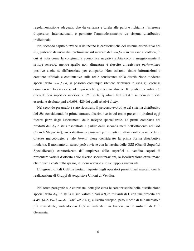 Anteprima della tesi: L'evoluzione del sistema distributivo nel mercato del do it yourself, Pagina 6