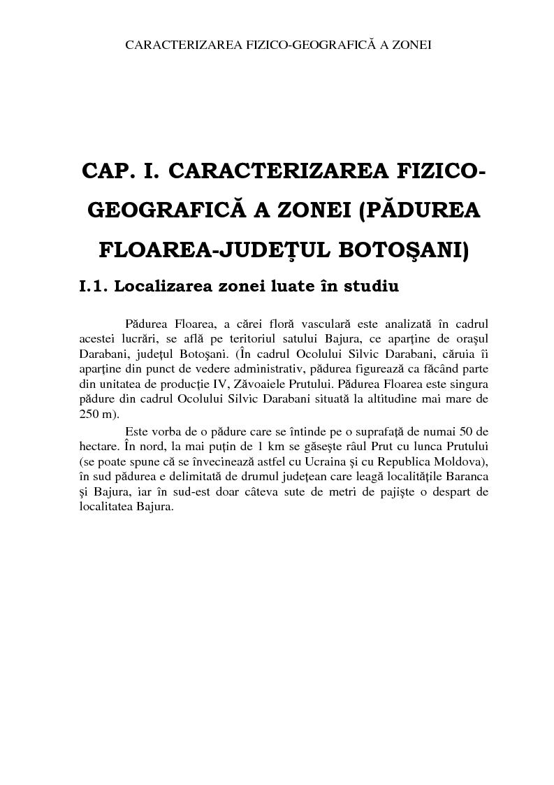 Anteprima della tesi: Analiza florei vasculare din padurea Floarea, Pagina 3