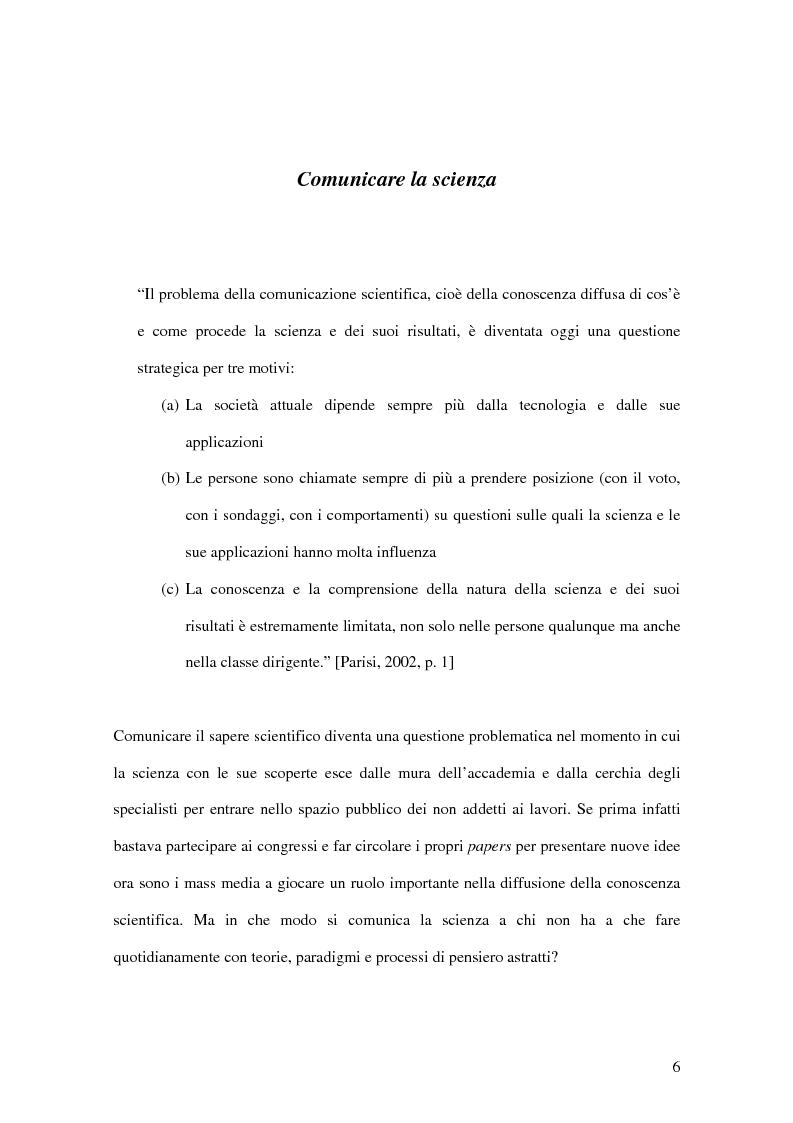 Anteprima della tesi: La rappresentazione massmediatica della scienza: analisi di un caso empirico, Pagina 4