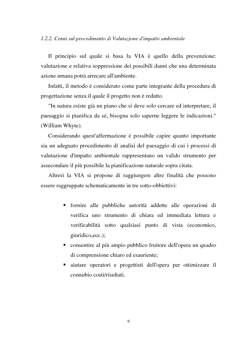 Anteprima della tesi: Il paesaggio nelle valutazioni di impatto ambientale, Pagina 8