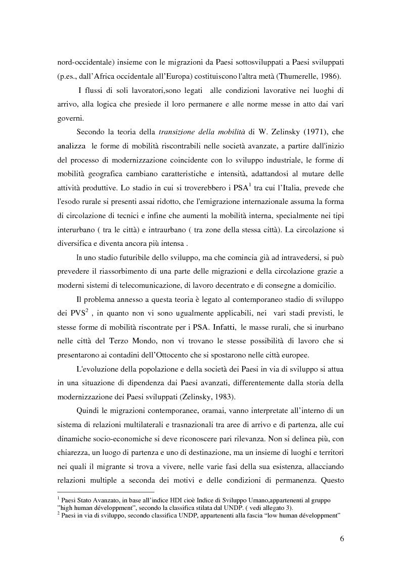 Anteprima della tesi: Il migrante come attore trasnazionale: le rimesse come fattore di co-sviluppo, Pagina 2