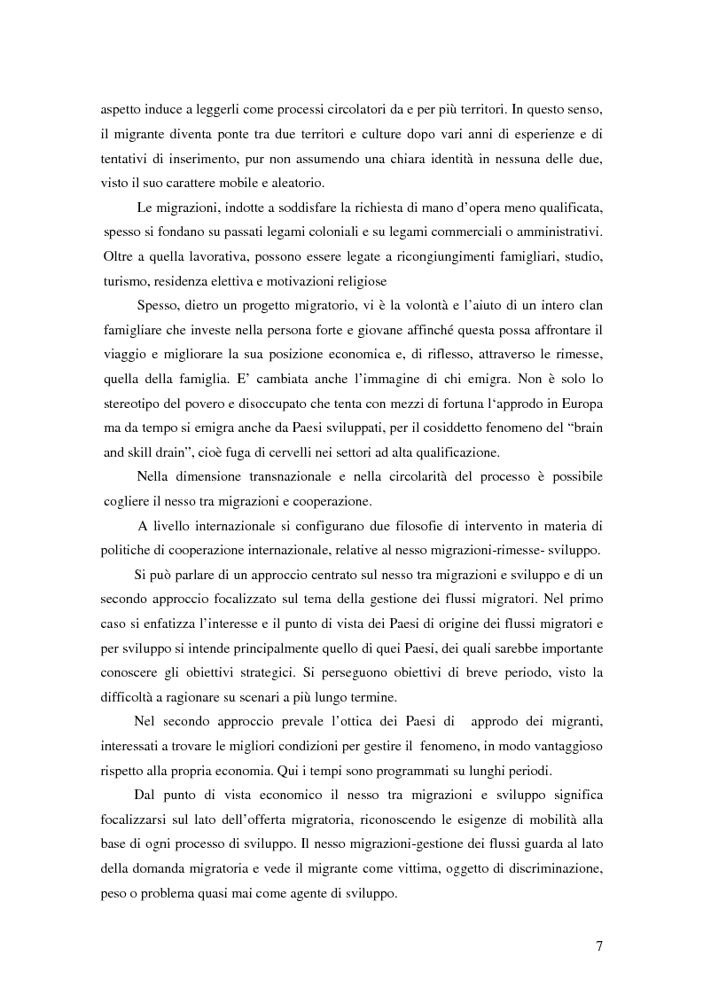 Anteprima della tesi: Il migrante come attore trasnazionale: le rimesse come fattore di co-sviluppo, Pagina 3