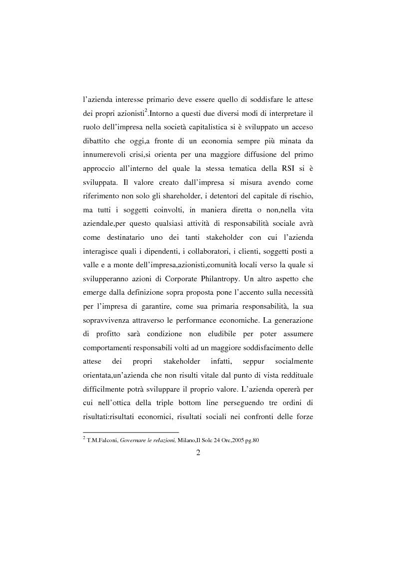 Anteprima della tesi: La Responsabilità sociale d'impresa: la sfida etica della Regione Toscana, Pagina 2