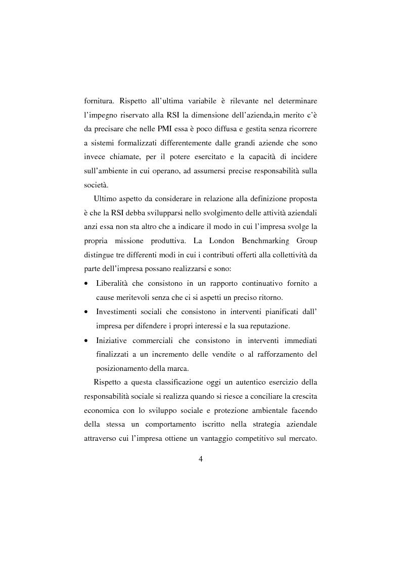 Anteprima della tesi: La Responsabilità sociale d'impresa: la sfida etica della Regione Toscana, Pagina 4