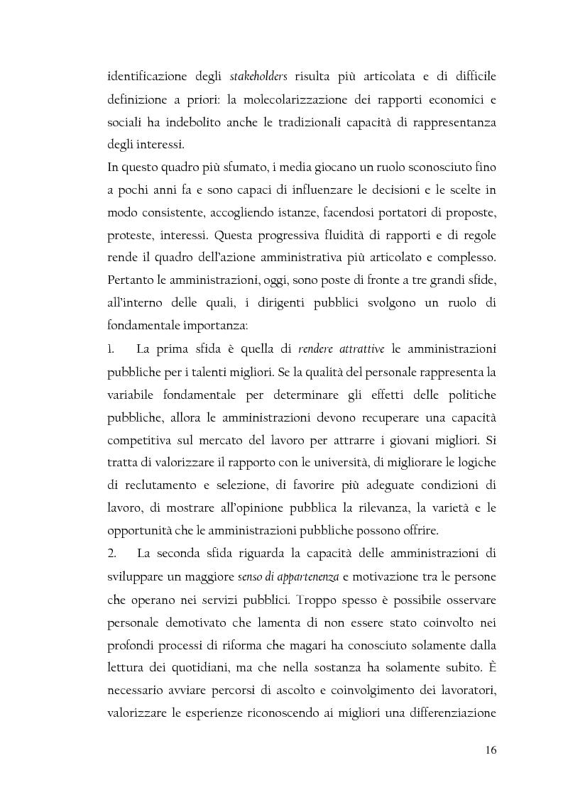 Anteprima della tesi: La nuova dirigenza: i profili e le competenze dei ruoli manageriali, Pagina 11