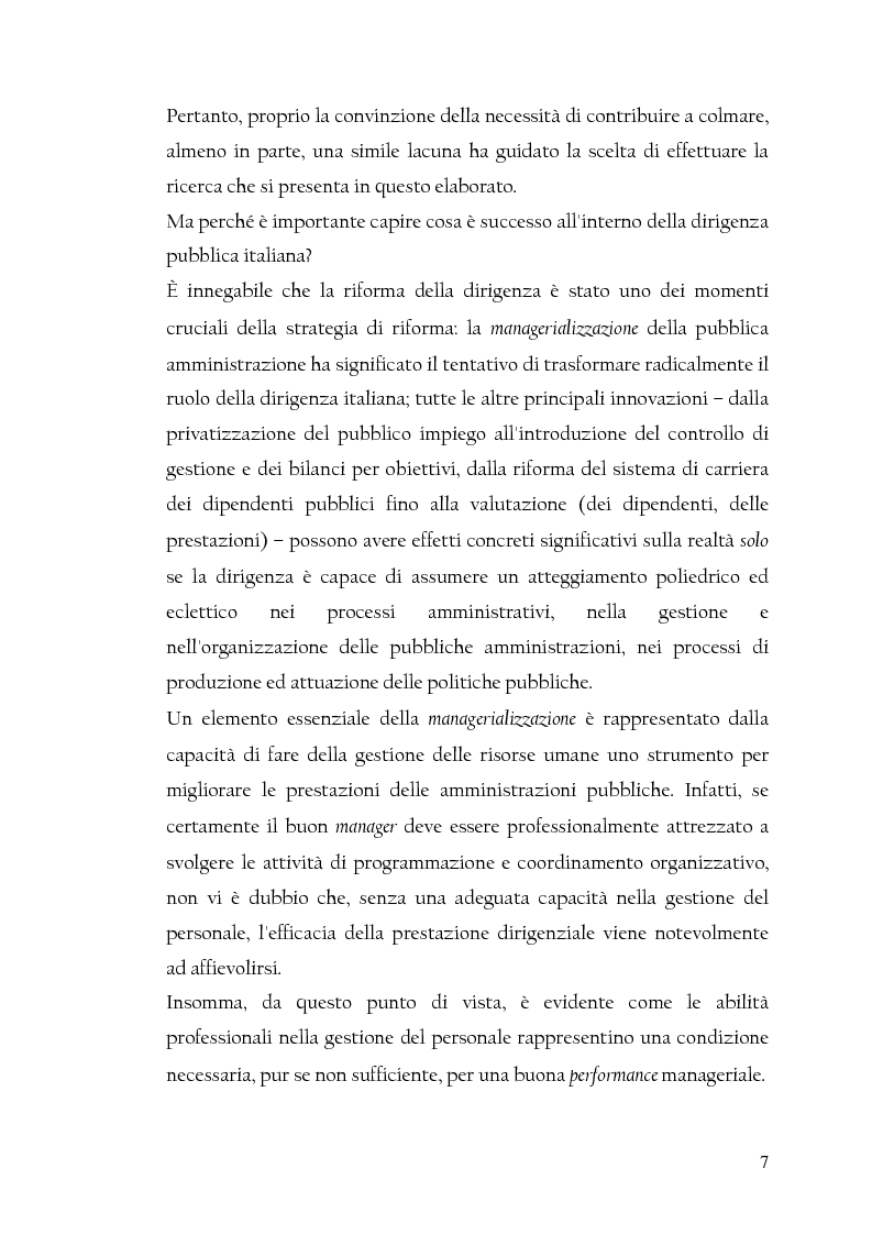 Anteprima della tesi: La nuova dirigenza: i profili e le competenze dei ruoli manageriali, Pagina 2