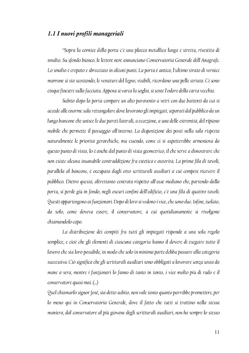 Anteprima della tesi: La nuova dirigenza: i profili e le competenze dei ruoli manageriali, Pagina 6