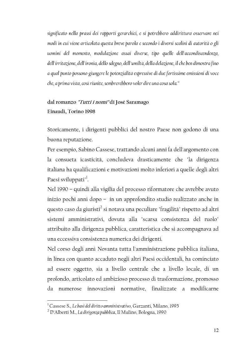 Anteprima della tesi: La nuova dirigenza: i profili e le competenze dei ruoli manageriali, Pagina 7