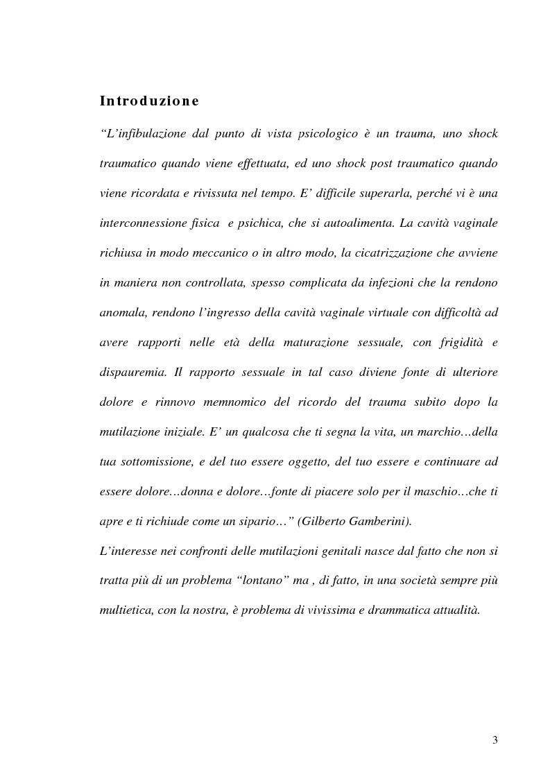 Anteprima della tesi: Mutilazioni genitali femminili: il ruolo dell'ostetrica, Pagina 1