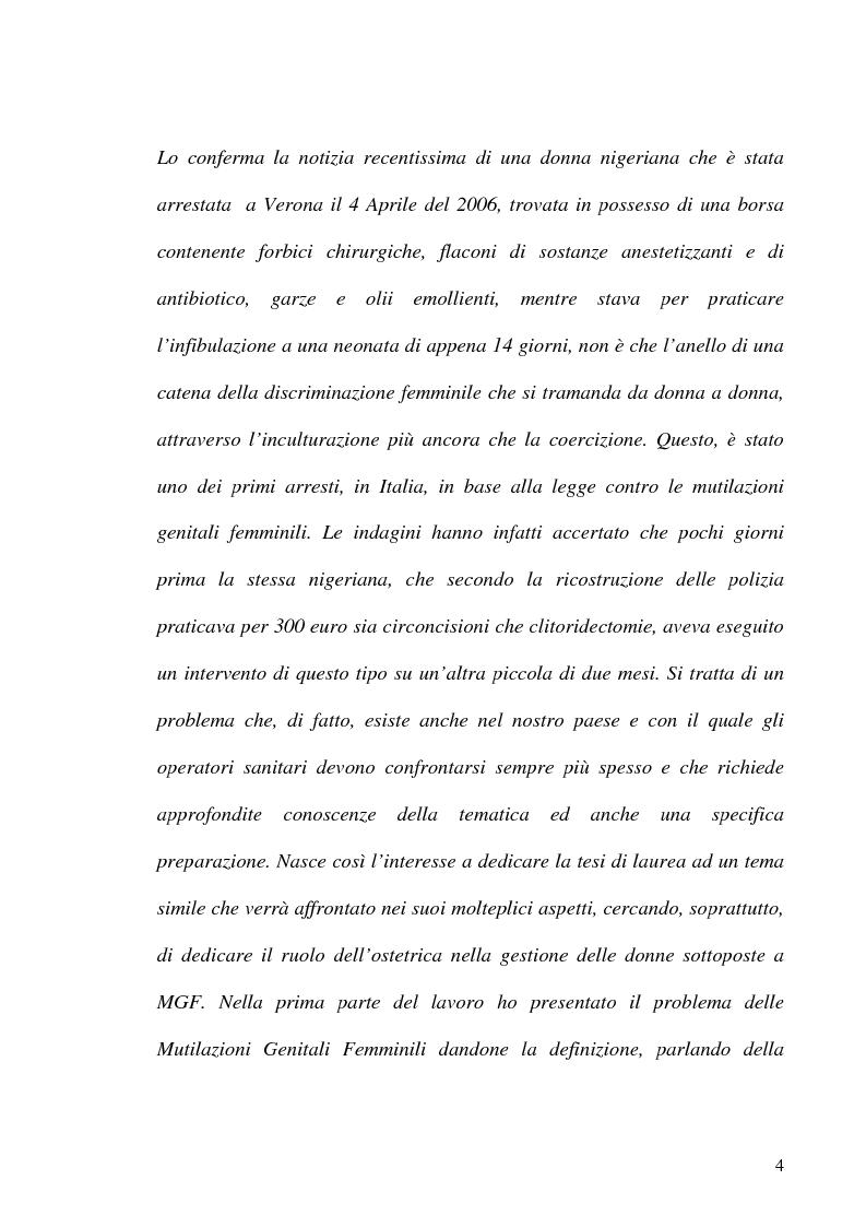 Anteprima della tesi: Mutilazioni genitali femminili: il ruolo dell'ostetrica, Pagina 2