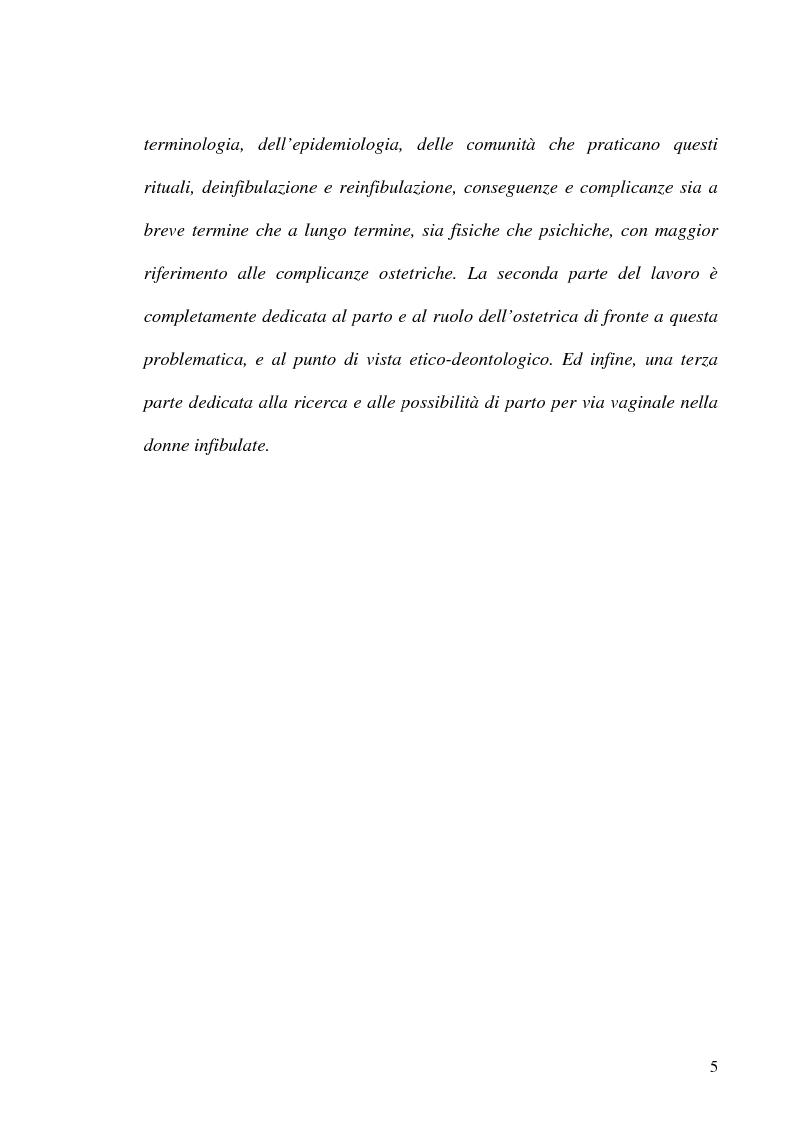 Anteprima della tesi: Mutilazioni genitali femminili: il ruolo dell'ostetrica, Pagina 3