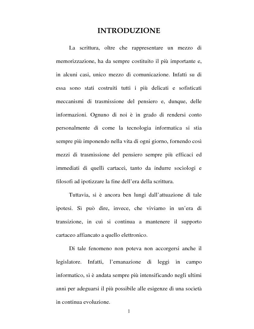 Anteprima della tesi: Atto amministrativo informatico, Pagina 1
