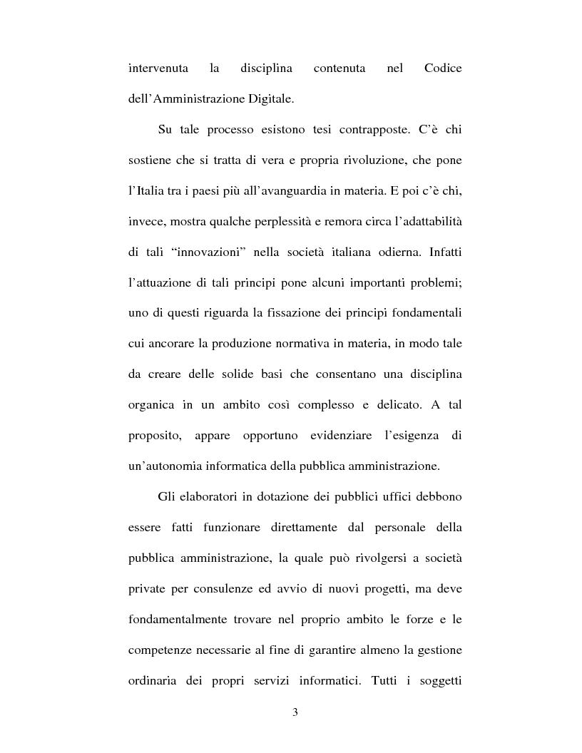 Anteprima della tesi: Atto amministrativo informatico, Pagina 3