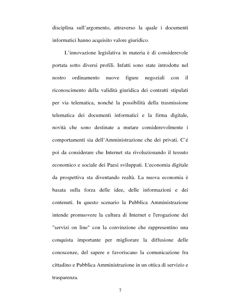 Anteprima della tesi: Atto amministrativo informatico, Pagina 7