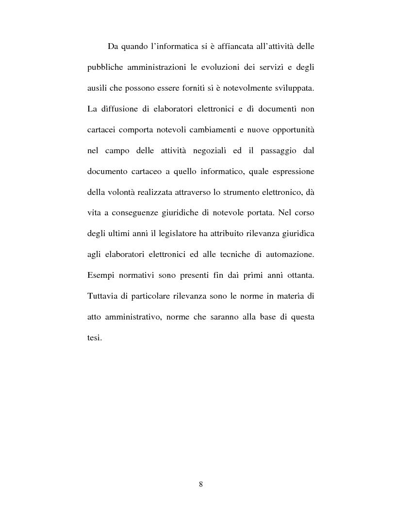 Anteprima della tesi: Atto amministrativo informatico, Pagina 8