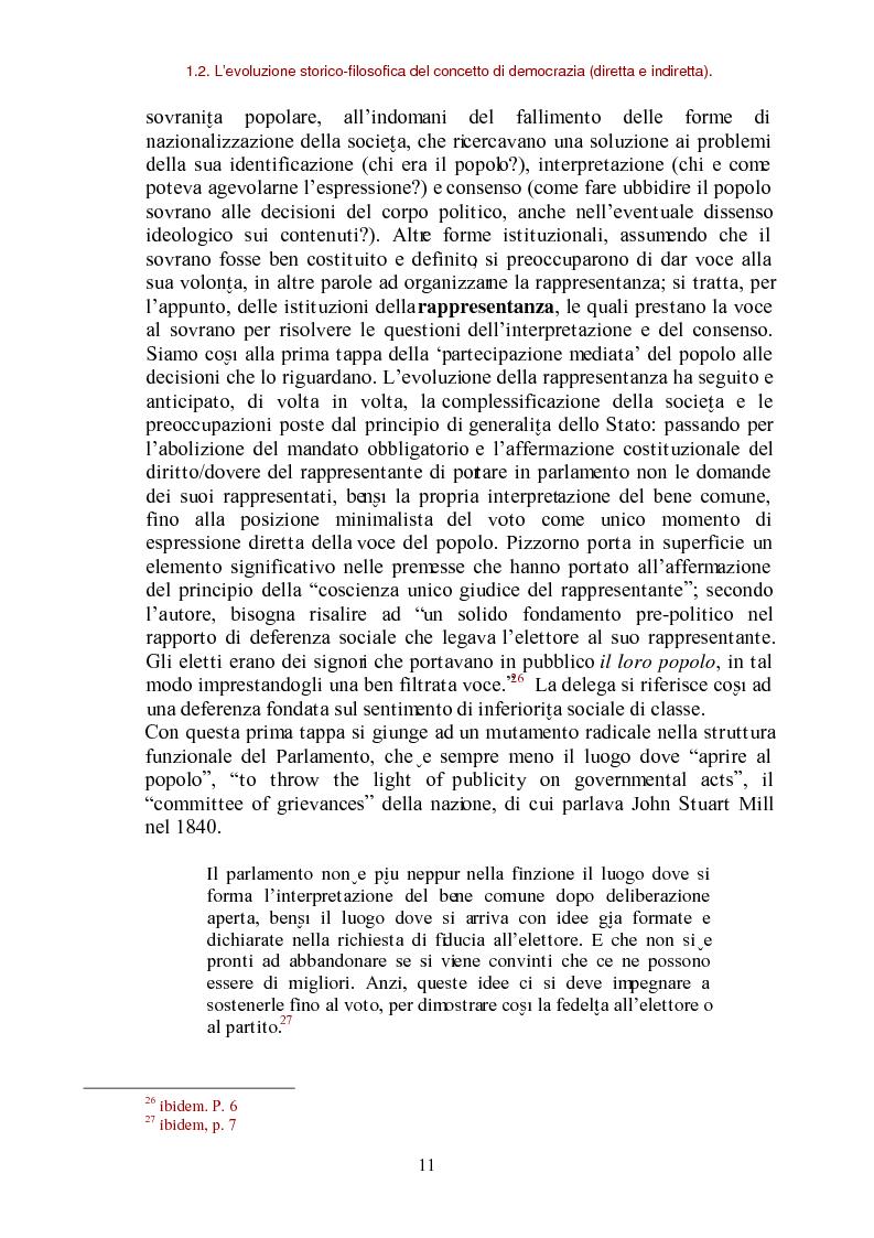 Anteprima della tesi: E-democracy come processo di coltivazione raffinata del consenso. La partecipazione ai processi decisionali nel policy making della P.A. locale, Pagina 11