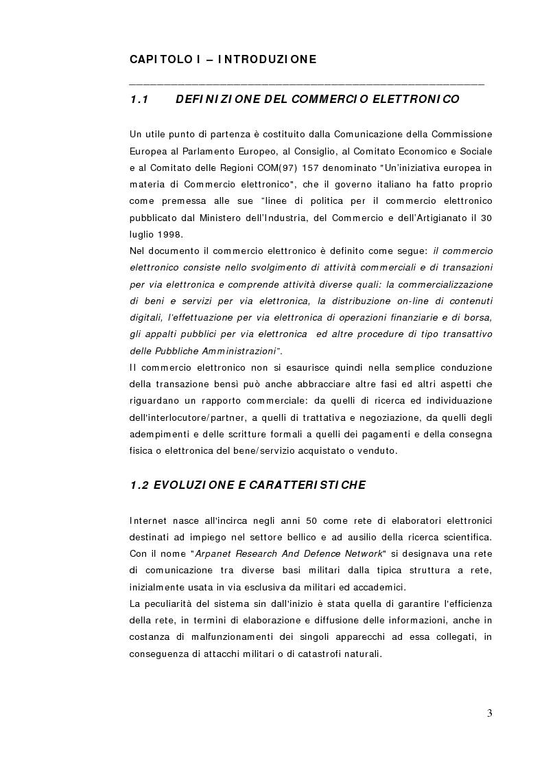 Anteprima della tesi: Commercio Elettronico, Pagina 1