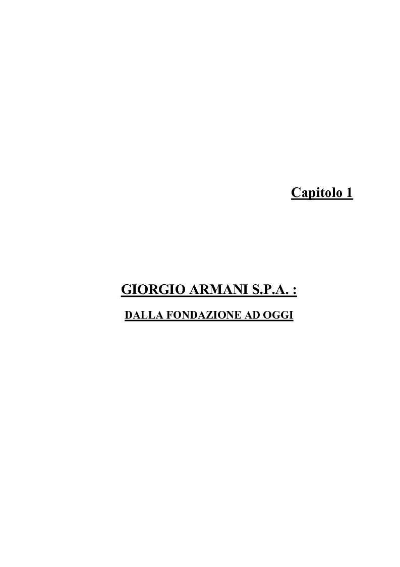 Anteprima della tesi: Giorgio Armani e Mariella Burani a confronto: analisi di bilancio, Pagina 3