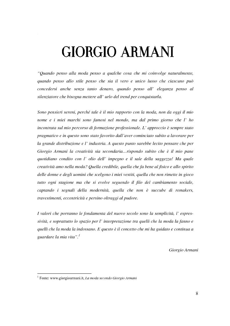 Anteprima della tesi: Giorgio Armani e Mariella Burani a confronto: analisi di bilancio, Pagina 4