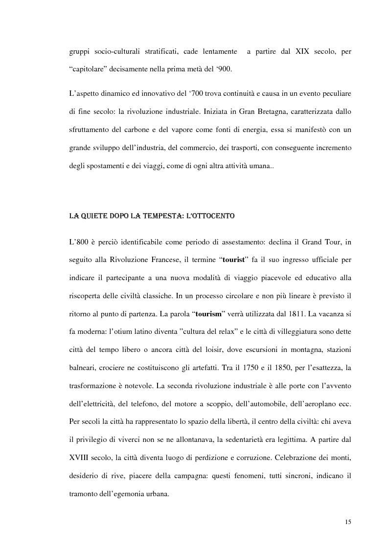 Anteprima della tesi: Psicologia del turismo e rappresentazione delle risorse del territorio: un'ipotesi di ricerca sugli operatori della provincia di Bari, Pagina 14