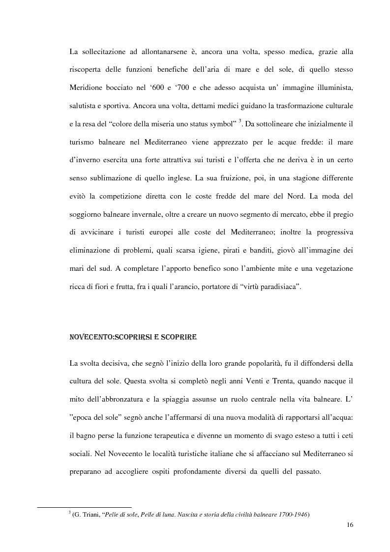 Anteprima della tesi: Psicologia del turismo e rappresentazione delle risorse del territorio: un'ipotesi di ricerca sugli operatori della provincia di Bari, Pagina 15