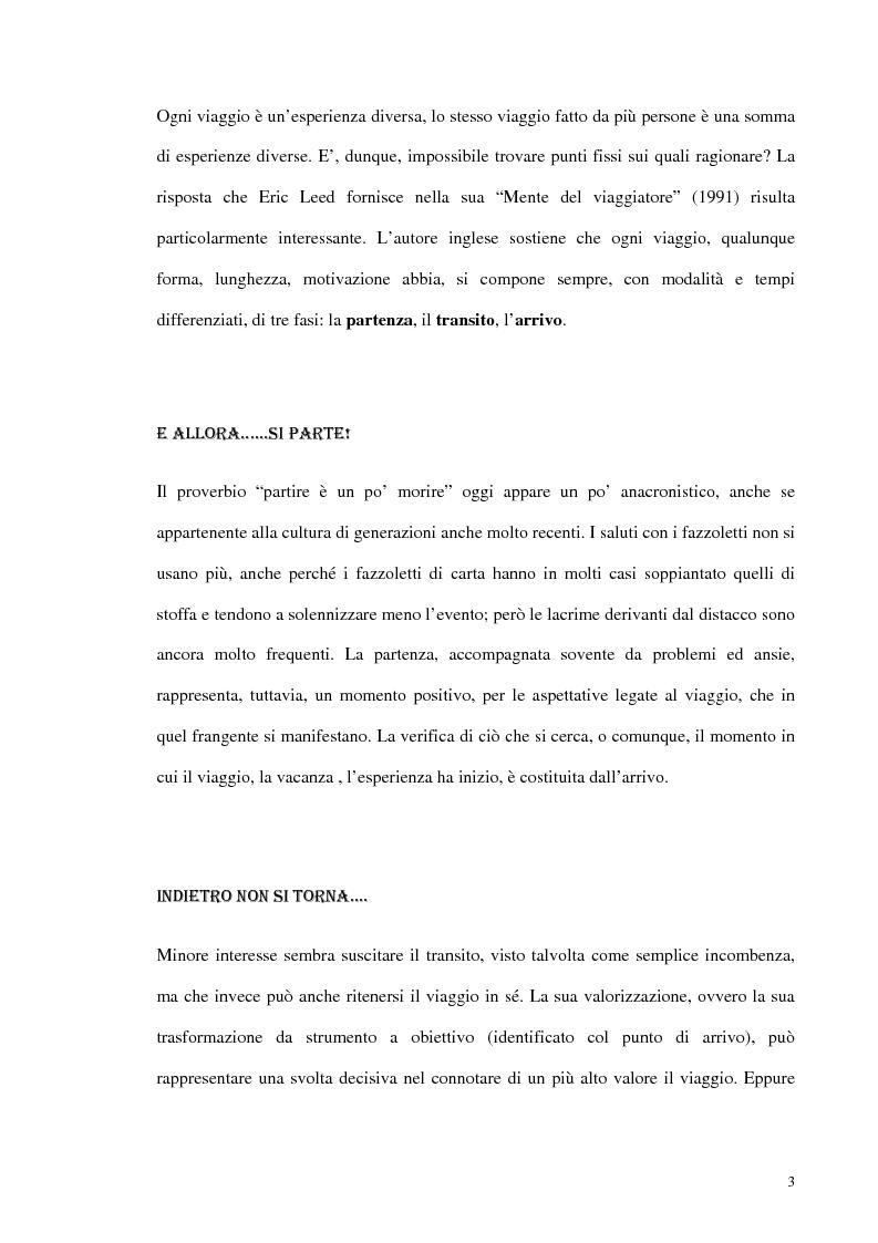 Anteprima della tesi: Psicologia del turismo e rappresentazione delle risorse del territorio: un'ipotesi di ricerca sugli operatori della provincia di Bari, Pagina 2