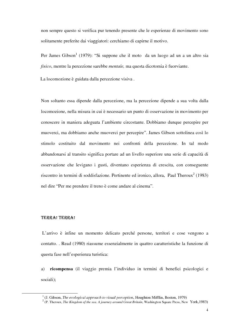 Anteprima della tesi: Psicologia del turismo e rappresentazione delle risorse del territorio: un'ipotesi di ricerca sugli operatori della provincia di Bari, Pagina 3