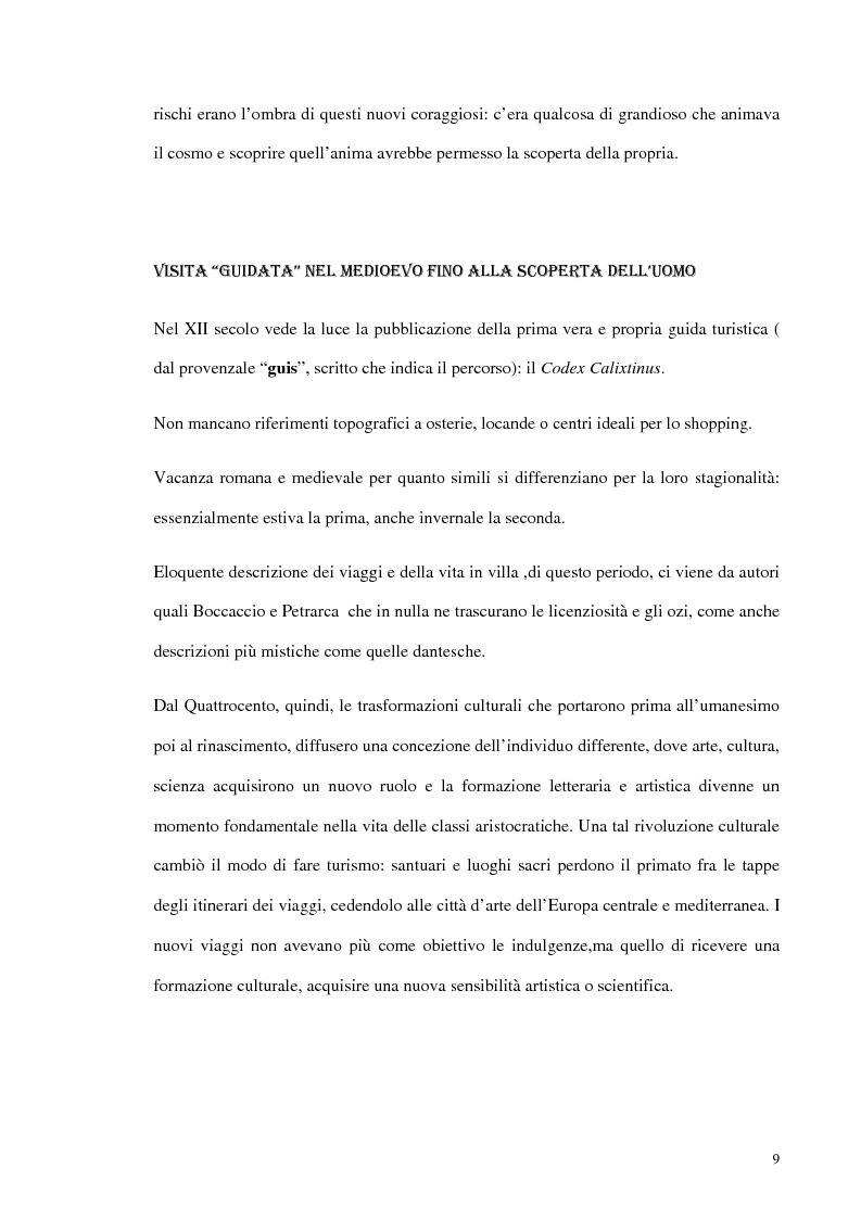 Anteprima della tesi: Psicologia del turismo e rappresentazione delle risorse del territorio: un'ipotesi di ricerca sugli operatori della provincia di Bari, Pagina 8