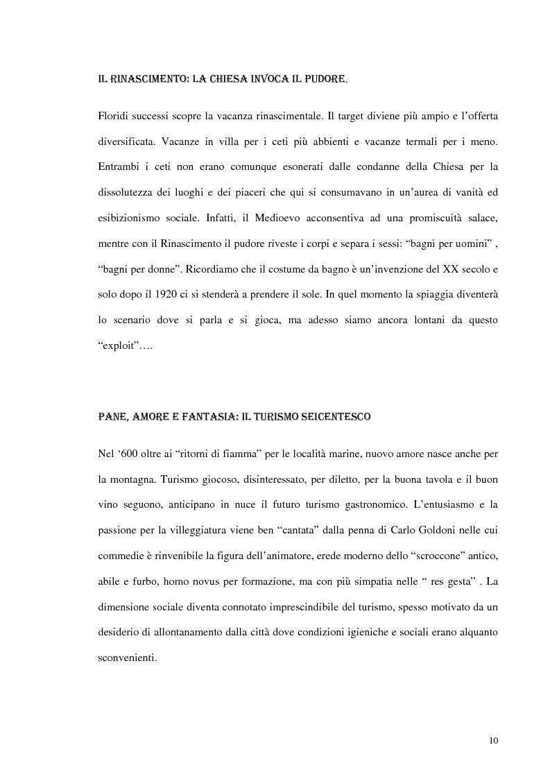 Anteprima della tesi: Psicologia del turismo e rappresentazione delle risorse del territorio: un'ipotesi di ricerca sugli operatori della provincia di Bari, Pagina 9