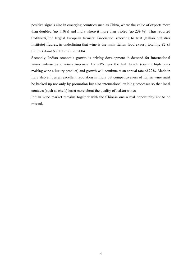 Anteprima della tesi: New Market Development for a Unique Italian Wine Brand into the Evolving Indian Market, Pagina 4