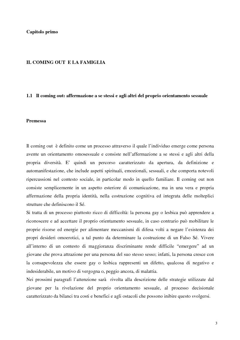 Anteprima della tesi: Sostegno familiare, autostima e comportamenti problematici nei giovani adulti omosessuali, Pagina 3