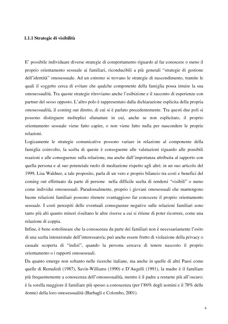 Anteprima della tesi: Sostegno familiare, autostima e comportamenti problematici nei giovani adulti omosessuali, Pagina 4