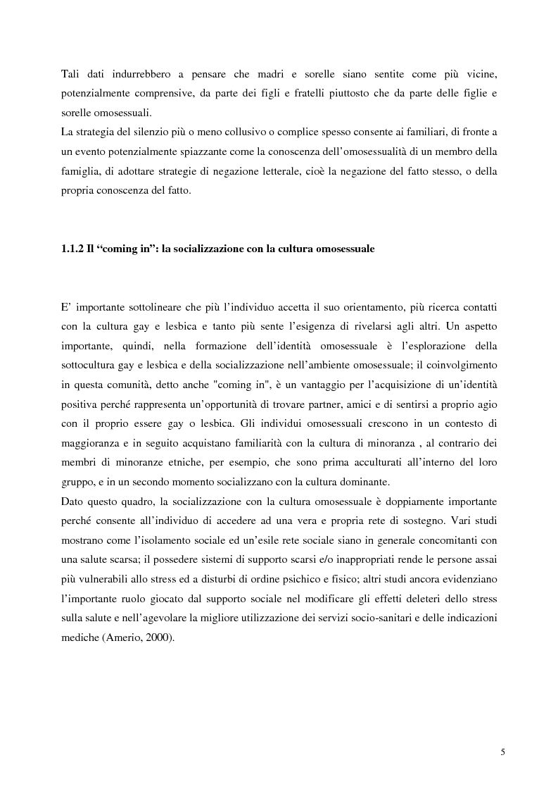 Anteprima della tesi: Sostegno familiare, autostima e comportamenti problematici nei giovani adulti omosessuali, Pagina 5