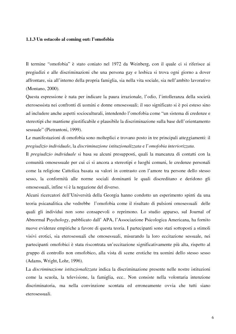 Anteprima della tesi: Sostegno familiare, autostima e comportamenti problematici nei giovani adulti omosessuali, Pagina 6