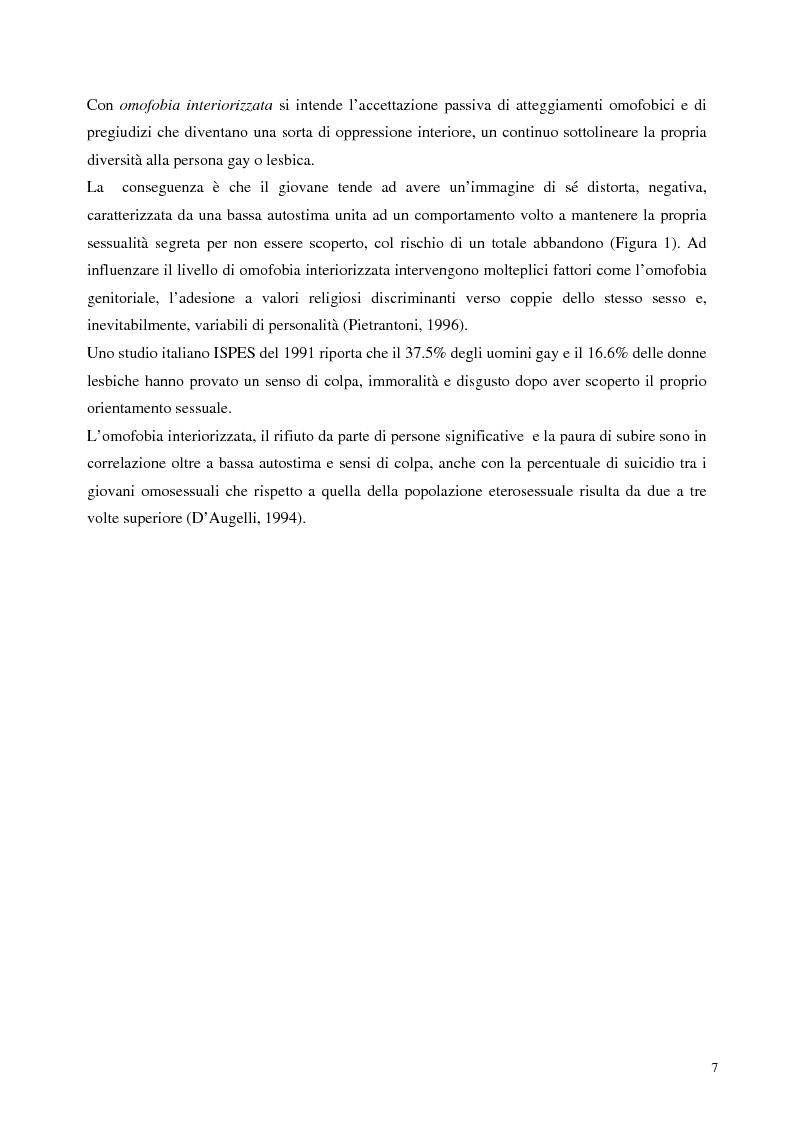 Anteprima della tesi: Sostegno familiare, autostima e comportamenti problematici nei giovani adulti omosessuali, Pagina 7