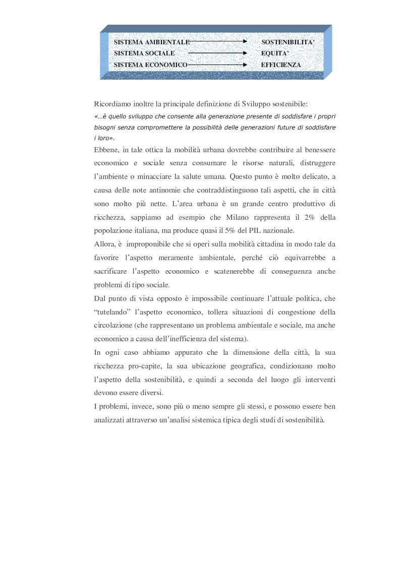 Anteprima della tesi: Uno studio dell'applicazione dei principi della mobilità sostenibile all'area urbana fiorentina, Pagina 2
