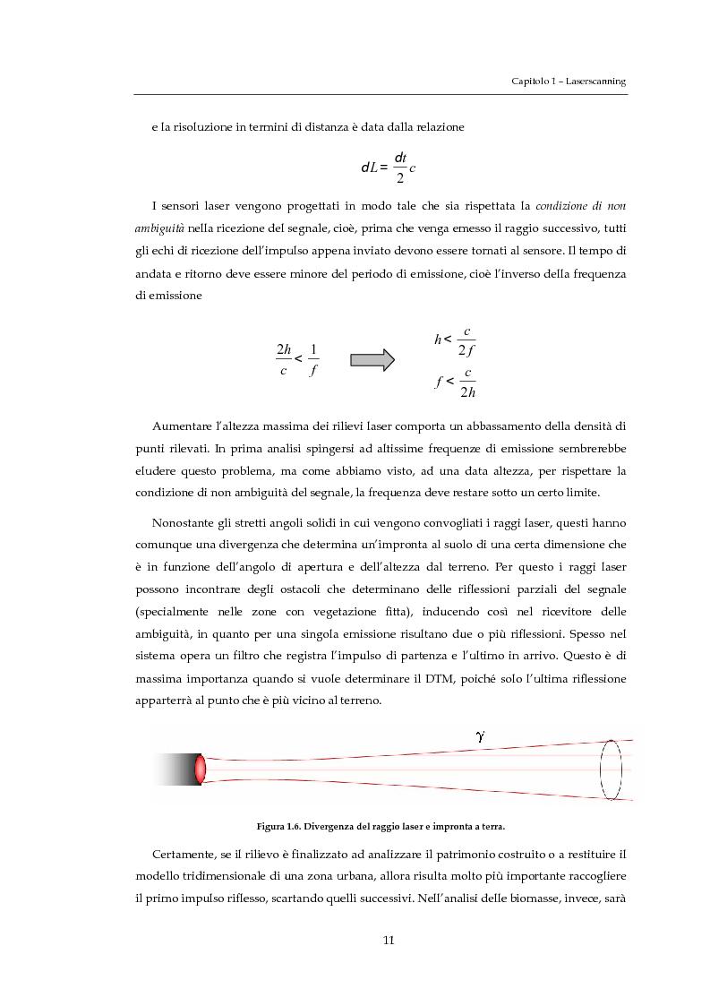 Anteprima della tesi: Validazione altimetrica di un rilievo LiDAR aereo del torrente Cormor, Pagina 11