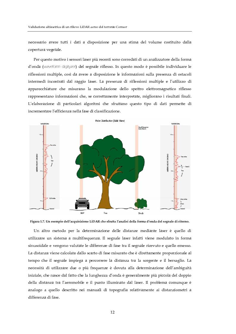 Anteprima della tesi: Validazione altimetrica di un rilievo LiDAR aereo del torrente Cormor, Pagina 12