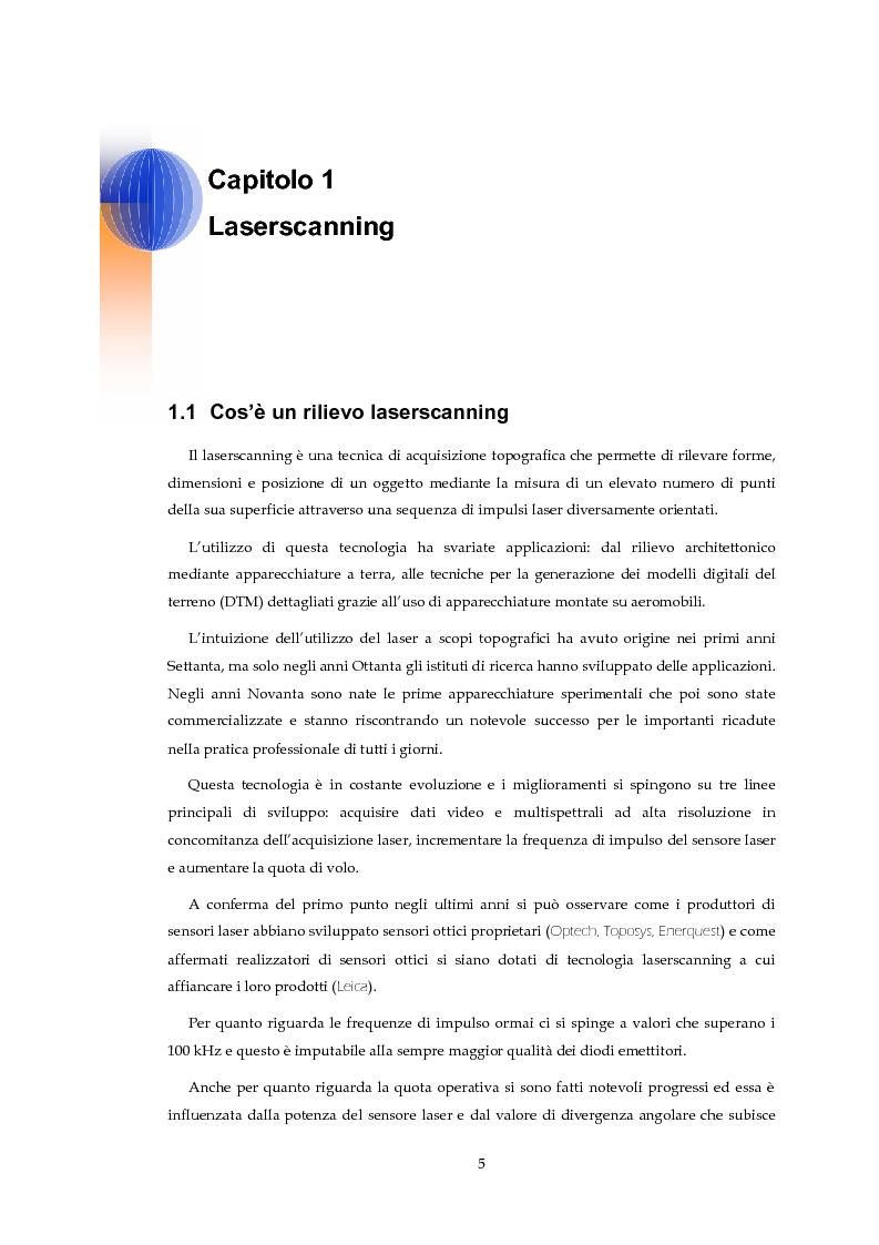 Anteprima della tesi: Validazione altimetrica di un rilievo LiDAR aereo del torrente Cormor, Pagina 5