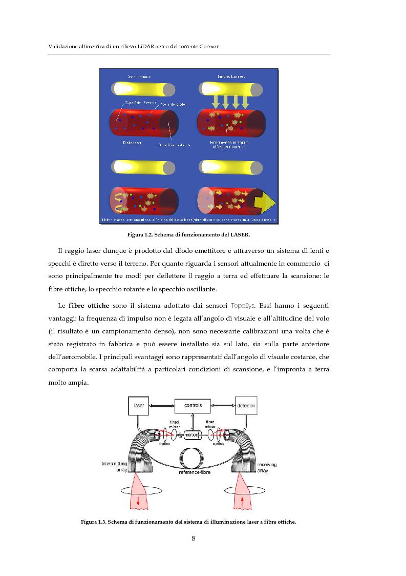 Anteprima della tesi: Validazione altimetrica di un rilievo LiDAR aereo del torrente Cormor, Pagina 8