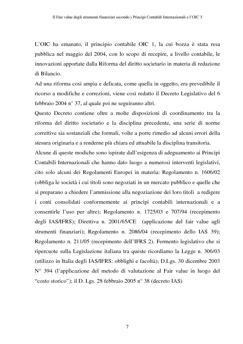 Anteprima della tesi: Il fair value degli strumenti finanziari secondo i principi contabili internazionali e l'OIC 3, Pagina 3