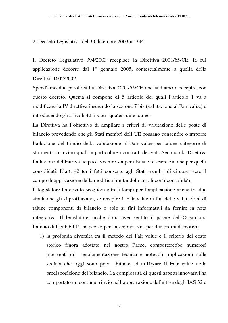 Anteprima della tesi: Il fair value degli strumenti finanziari secondo i principi contabili internazionali e l'OIC 3, Pagina 4