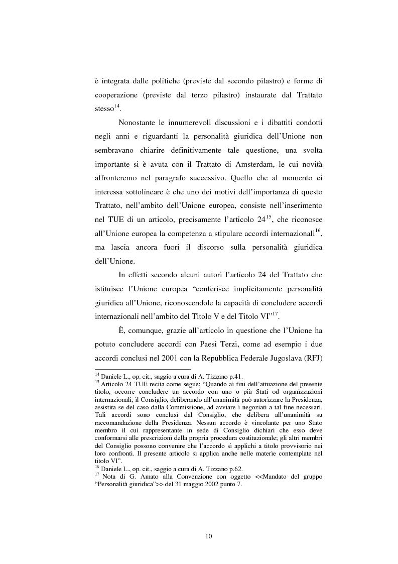 Anteprima della tesi: Relazioni esterne dell'Unione Europea: uno sguardo alle relazioni con il Giappone., Pagina 4