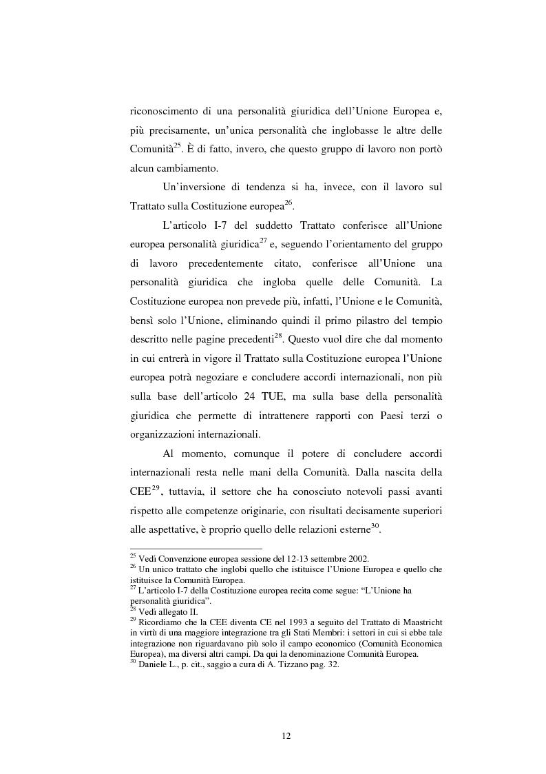 Anteprima della tesi: Relazioni esterne dell'Unione Europea: uno sguardo alle relazioni con il Giappone., Pagina 6